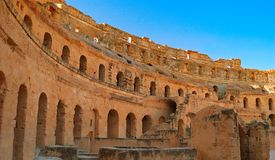 Coliseum in Tunisia Royalty Free Stock Photos