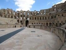 Coliseum in Tunisia. The Roman Coliseum in El-Jem (Tunisia).Gladiator fights took place here Stock Photo