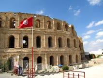 Coliseum in Tunisia. The Roman Coliseum in El-Jem (Tunisia). Gladiator fights took place here Stock Images