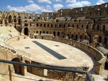 Coliseum in Tunisia. The Roman Coliseum in El-Jem (Tunisia). Gladiator fights took place here Royalty Free Stock Image