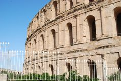 Coliseum of Tunisia Stock Images