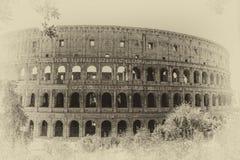 Coliseum uitstekende foto, retro stijl, Rome, Italië stock foto's