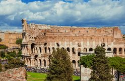 Coliseum van hierboven royalty-vrije stock afbeelding