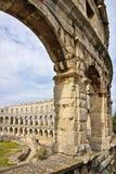 Coliseum van Pula in Kroatië royalty-vrije stock afbeeldingen