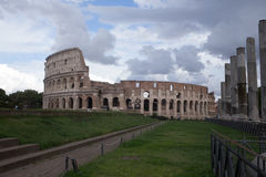 Coliseum. View of the coliseum in Rome Royalty Free Stock Photos