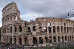 Coliseum. View of the coliseum in Rome Royalty Free Stock Images