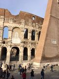 Coliseum walls Stock Images