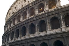 Coliseum on white Stock Photography