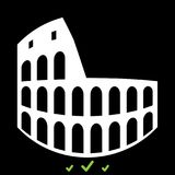 Coliseum it is white icon . Stock Photography