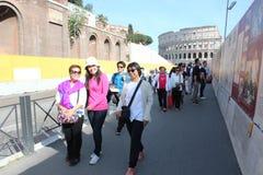 Coliseumen på Rome, Italien Arkivfoton