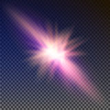 Colisión de dos fuerzas con la luz roja y azul Ilustración del vector Concepto de la explosión Fotografía de archivo