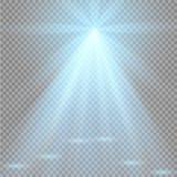 Colisión de dos fuerzas con la luz roja y azul Ilustración del vector Concepto de la explosión Imagen de archivo libre de regalías