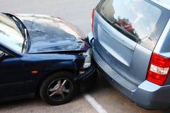 Colisión del coche. imagenes de archivo