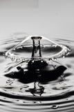 Colisión del descenso del agua Foto de archivo libre de regalías