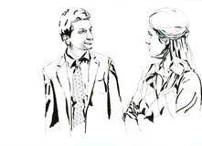 Collègue noir et blanc Image libre de droits