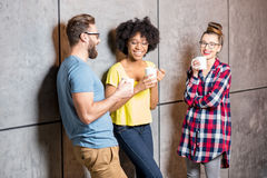 Collègues ayant une pause-café Photographie stock libre de droits