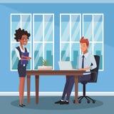 Collègues d'affaires au bureau illustration libre de droits