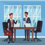 Collègues d'affaires au bureau illustration stock