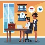 Collègues d'affaires au bureau illustration de vecteur