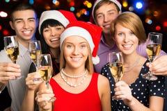Collègues heureux d'affaires. Joyeux Noël photo stock