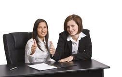 Collègues positifs d'affaires image libre de droits