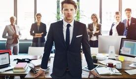 Collègues Team Corporate Concept de collaboration d'affaires photos stock
