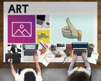 Collègues travaillant Art Simplicity Concept Photos stock