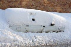 Collé dans la neige Photos libres de droits