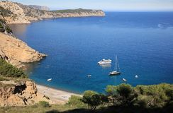 Coll Baix Beach on Majorca Stock Images