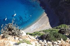 Coll Baix Beach on Majorca in Spain. Europe royalty free stock photos