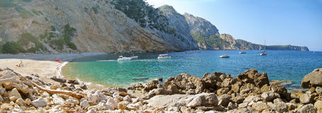 Coll Baix, famous bay / beach in the north of Majorca Royalty Free Stock Image