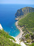 Coll Baix, famous bay / beach in the north of Majorca Royalty Free Stock Photography