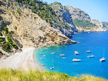 Coll Baix, famous bay / beach in the north of Majorca Royalty Free Stock Photo