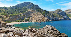 Coll Baix, famous bay / beach in the north of Majorca Stock Images