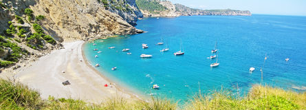 Coll Baix, famous bay / beach in the north of Majorca Stock Photos