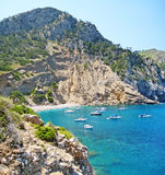 Coll Baix, famous bay / beach in the north of Majorca Royalty Free Stock Photos
