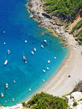 Coll Baix, famous bay in the north of Majorca Stock Image