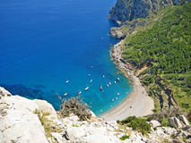 Coll Baix, famous bay in the north of Majorca Royalty Free Stock Photography