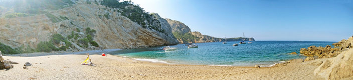 Coll Baix, famous bay in the north of Majorca Stock Images