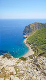 Coll Baix, famous bay in the north of Majorca Stock Photos