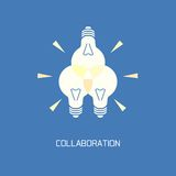 Collaboration. Abstract symbol brainstorming Stock Photo