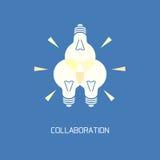 Collaboration. Abstract symbol brainstorming stock illustration