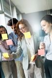 Collaboration and analysis by business people working in office. Collaboration and analysis by business people working in business office Royalty Free Stock Photo