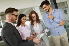 Collaboration and analysis by business people working in office. Collaboration and analysis by business people working in business office Royalty Free Stock Photography