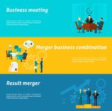 Collaboration Banner Set Royalty Free Stock Image