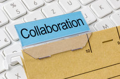 Collaboration. A brown file folder labeled with Collaboration Royalty Free Stock Image
