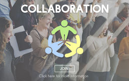 Collaboration Collaborate Connection Corporate Concept stock image