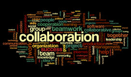 Collaboration concept in word tag cloud Royalty Free Stock Photography