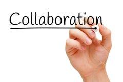 Collaboration Hand Black Marker Stock Photos
