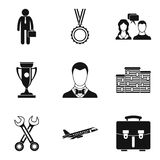 Collaboration icons set, simple style. Collaboration icons set. Simple set of 9 collaboration vector icons for web isolated on white background Stock Photo